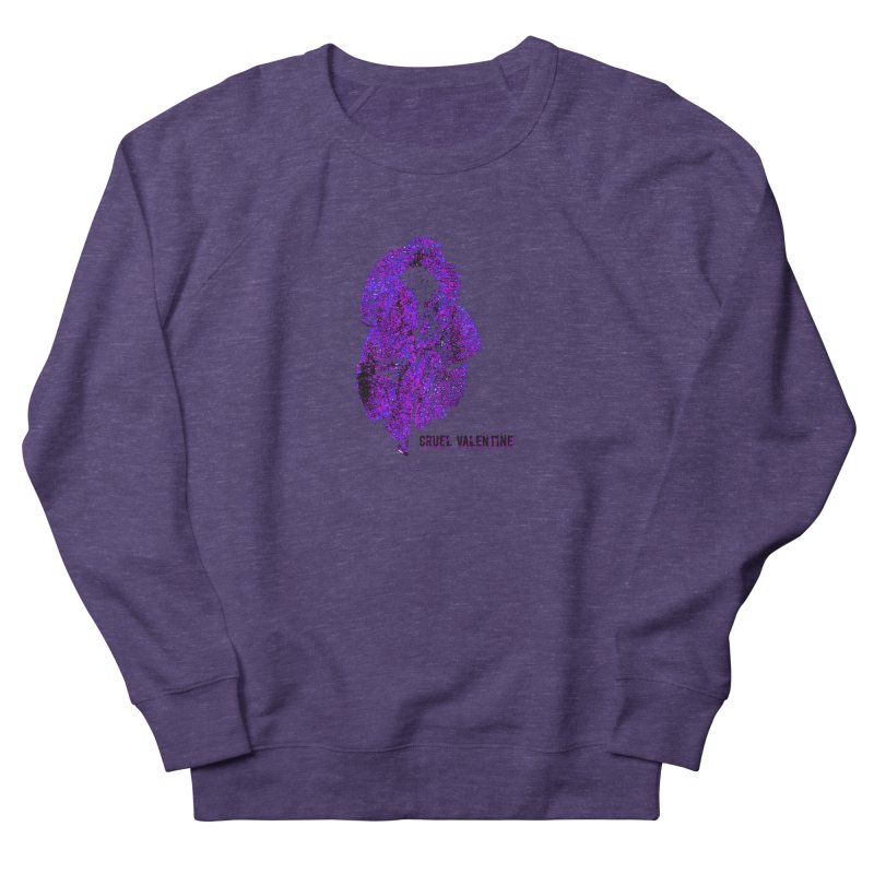 Vulva #34 in Purple Women's French Terry Sweatshirt by Cruel Valentine