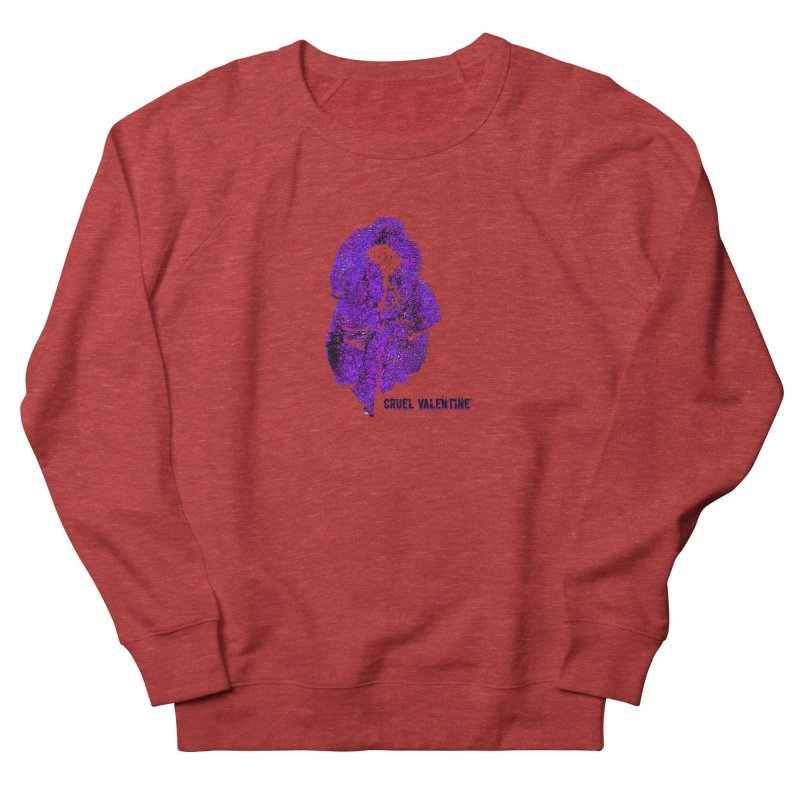Vulva #34 in Purple Women's French Terry Sweatshirt by Cruel Valentine