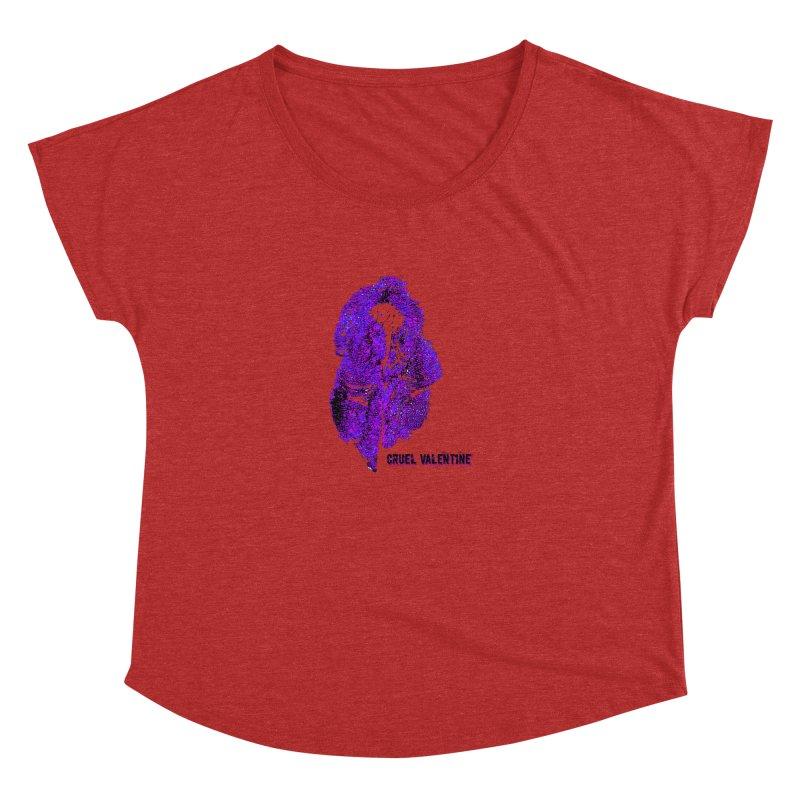 Vulva #34 in Purple Women's Dolman Scoop Neck by Cruel Valentine