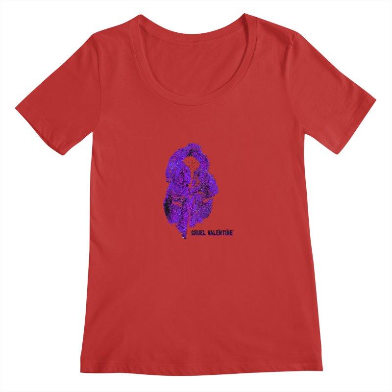 Vulva #34 in Purple Women's Regular Scoop Neck by Cruel Valentine