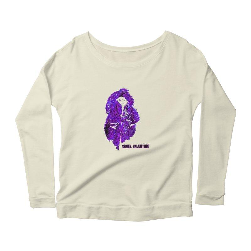 Vulva #34 in Purple Women's Scoop Neck Longsleeve T-Shirt by Cruel Valentine