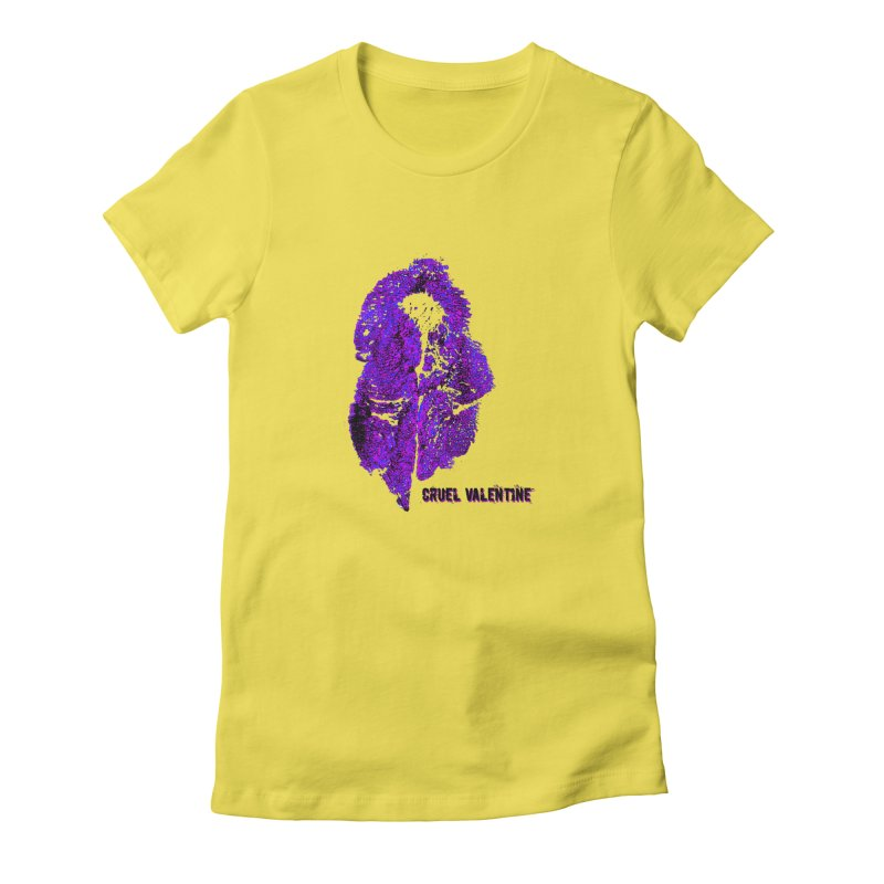 Vulva #34 in Purple Women's Fitted T-Shirt by Cruel Valentine