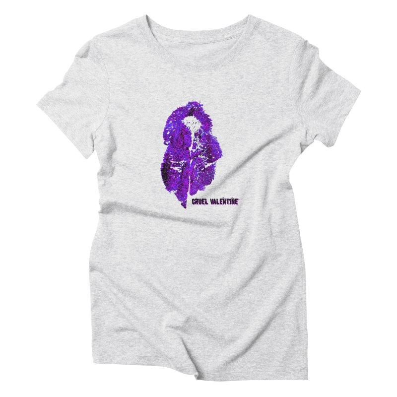 Vulva #34 in Purple Women's Triblend T-Shirt by Cruel Valentine