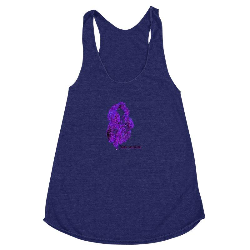 Vulva #34 in Purple Women's Racerback Triblend Tank by Cruel Valentine