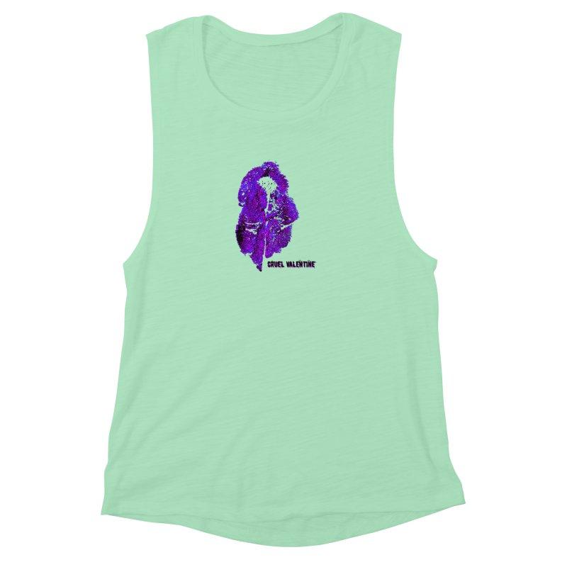 Vulva #34 in Purple Women's Muscle Tank by Cruel Valentine