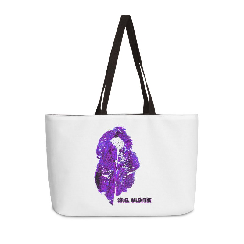 Vulva #34 in Purple Accessories Weekender Bag Bag by Cruel Valentine
