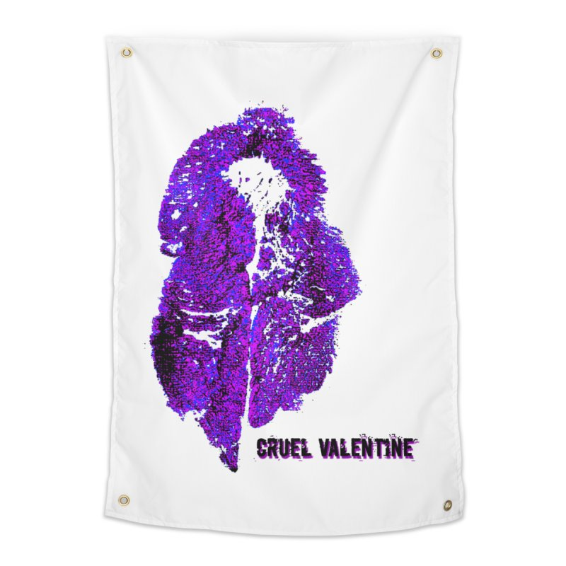 Vulva #34 in Purple Home Tapestry by Cruel Valentine