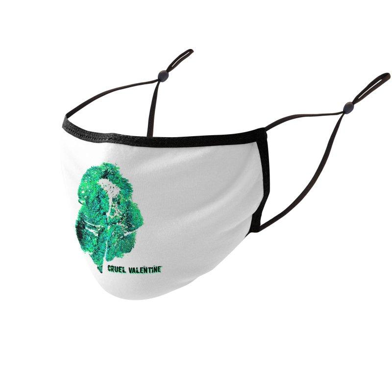 Vulva #34 in Green Accessories Face Mask by Cruel Valentine