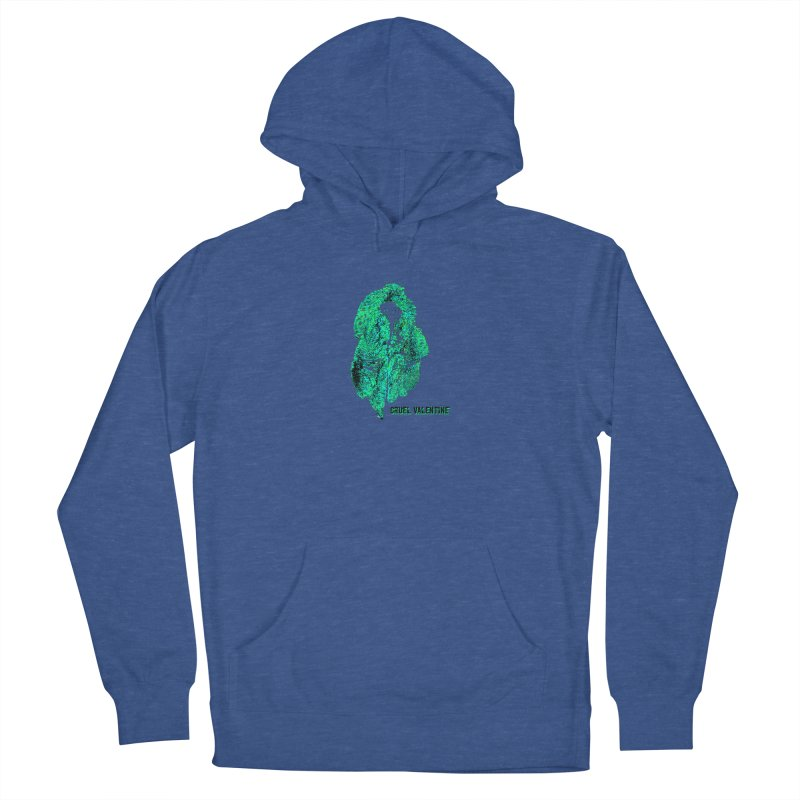 Vulva #34 in Green Men's French Terry Pullover Hoody by Cruel Valentine
