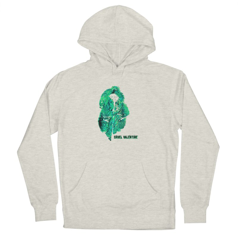 Vulva #34 in Green Women's French Terry Pullover Hoody by Cruel Valentine