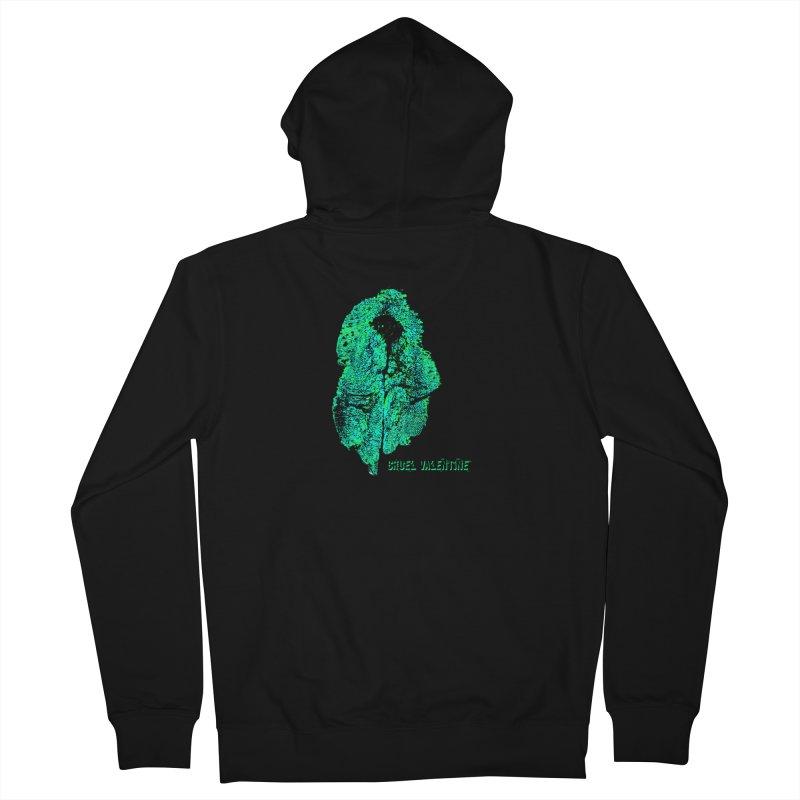Vulva #34 in Green Men's French Terry Zip-Up Hoody by Cruel Valentine