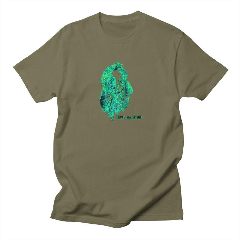 Vulva #34 in Green Men's Regular T-Shirt by Cruel Valentine