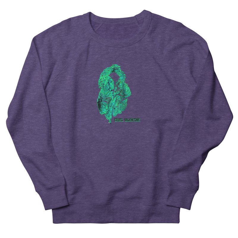Vulva #34 in Green Men's French Terry Sweatshirt by Cruel Valentine