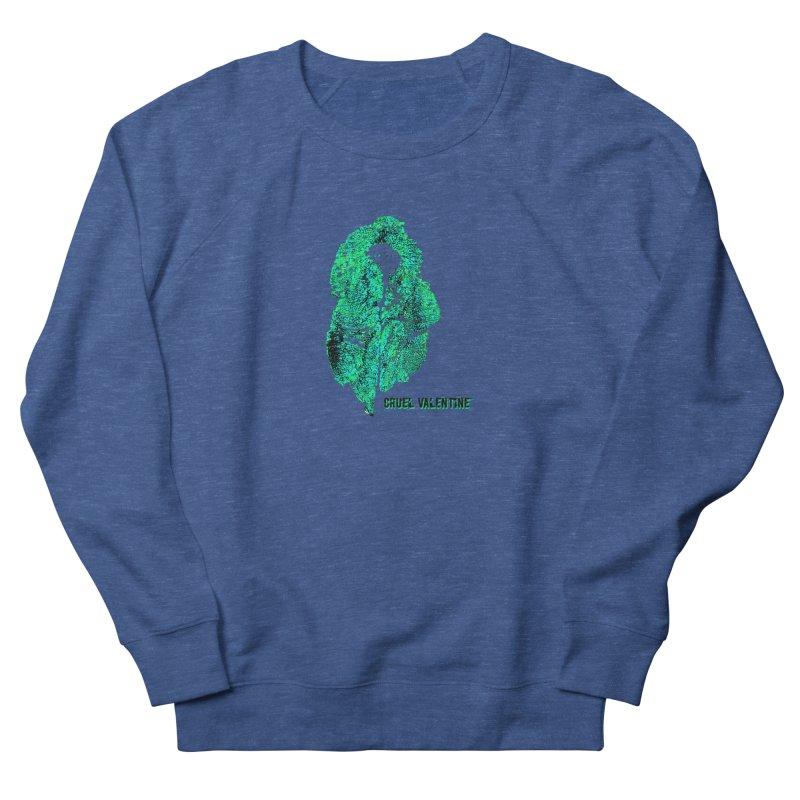 Vulva #34 in Green Men's French Terry Sweatshirt by Cruel Valentine