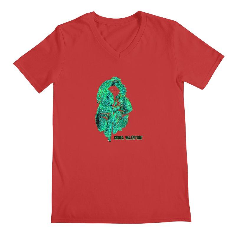 Vulva #34 in Green Men's Regular V-Neck by Cruel Valentine