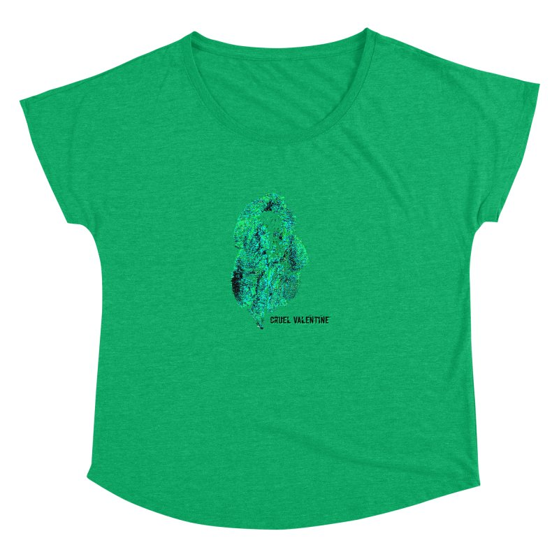 Vulva #34 in Green Women's Dolman Scoop Neck by Cruel Valentine