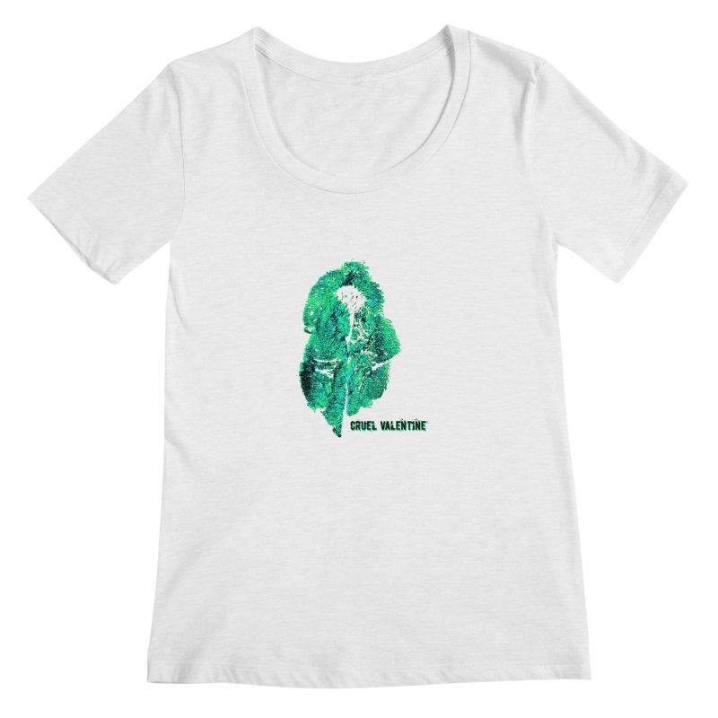 Vulva #34 in Green Women's Regular Scoop Neck by Cruel Valentine