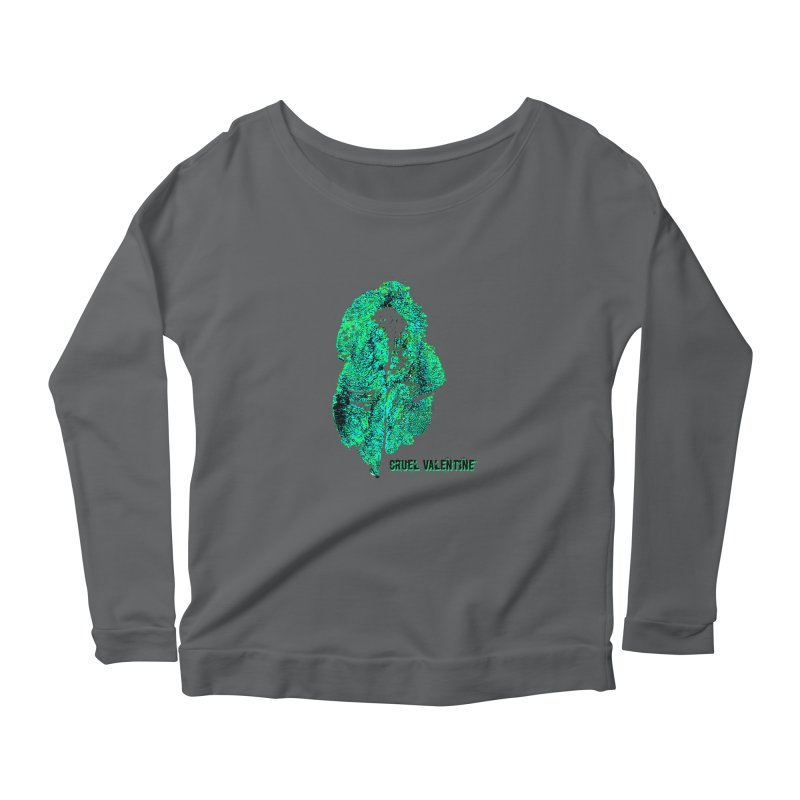 Vulva #34 in Green Women's Longsleeve T-Shirt by Cruel Valentine