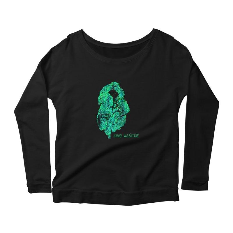 Vulva #34 in Green Women's Scoop Neck Longsleeve T-Shirt by Cruel Valentine