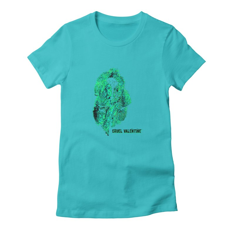 Vulva #34 in Green Women's Fitted T-Shirt by Cruel Valentine