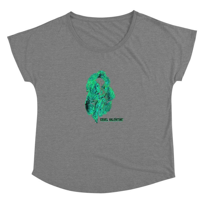 Vulva #34 in Green Women's Scoop Neck by Cruel Valentine
