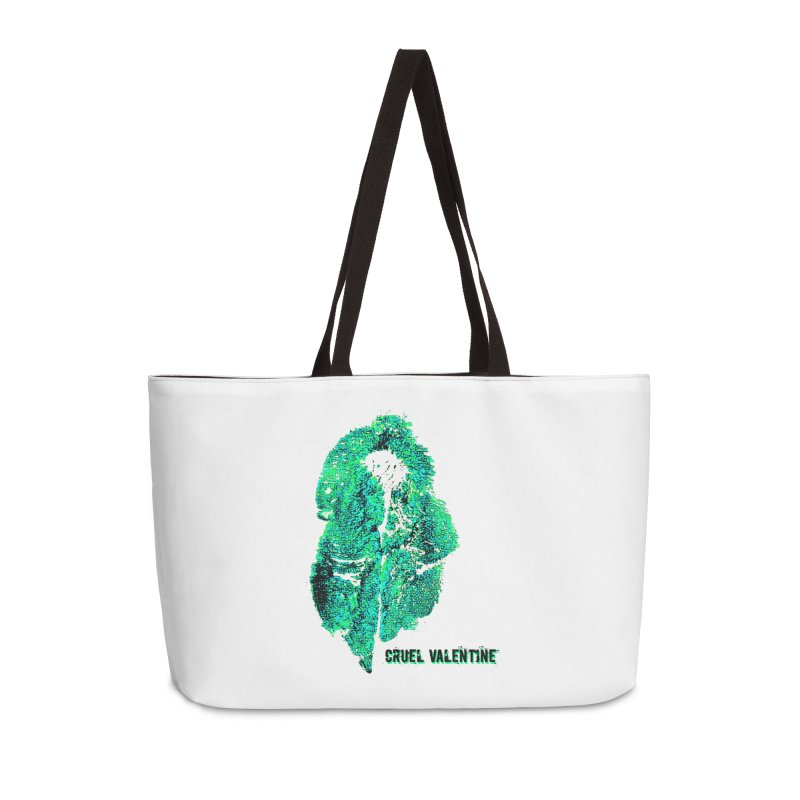 Vulva #34 in Green Accessories Weekender Bag Bag by Cruel Valentine
