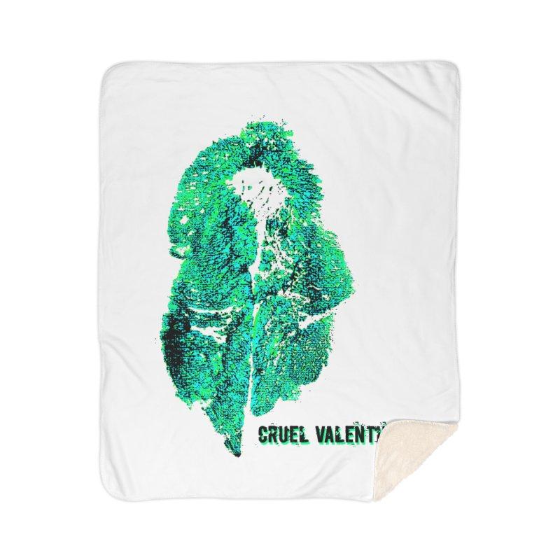 Vulva #34 in Green Home Sherpa Blanket Blanket by Cruel Valentine