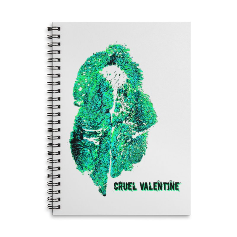 Vulva #34 in Green Accessories Lined Spiral Notebook by Cruel Valentine