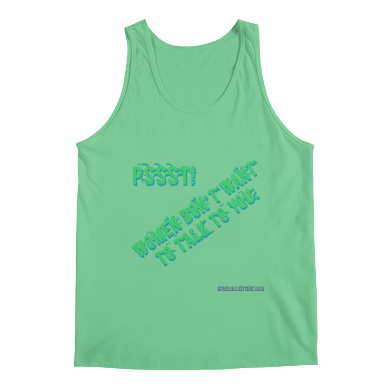 Women Don't Want to Talk to You Men's Regular Tank by Cruel Valentine