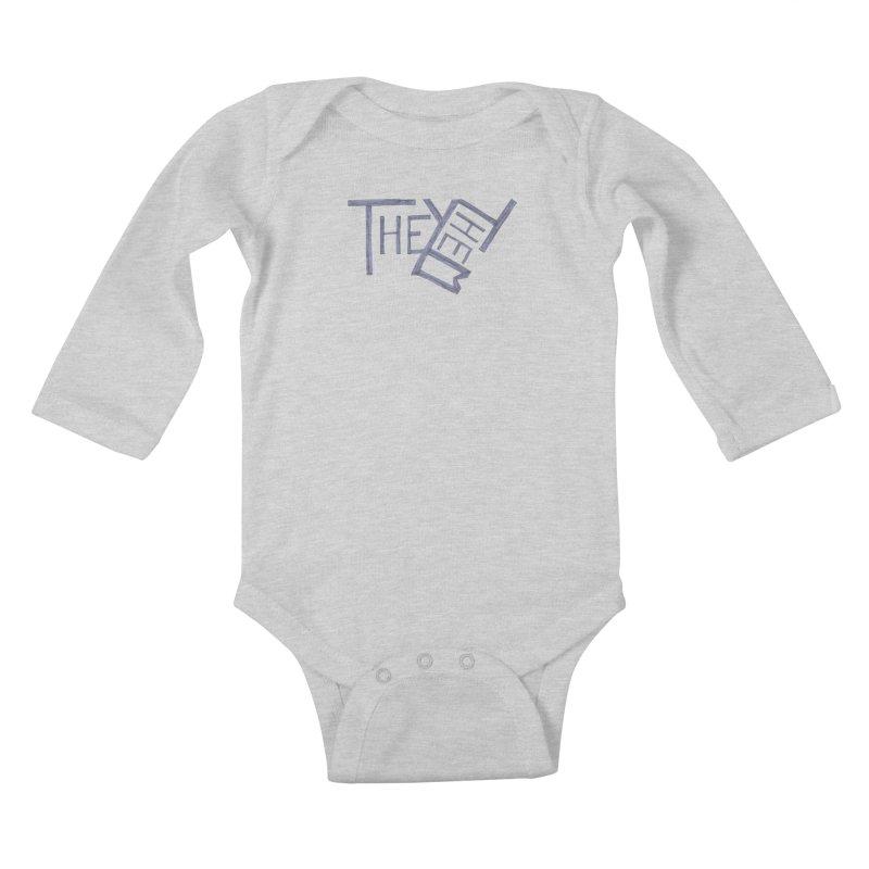 They/Them Kids Baby Longsleeve Bodysuit by Cruel Valentine