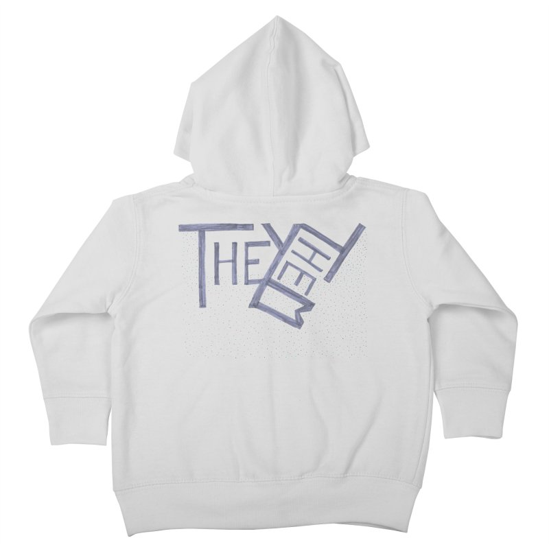 They/Them Kids Toddler Zip-Up Hoody by Cruel Valentine
