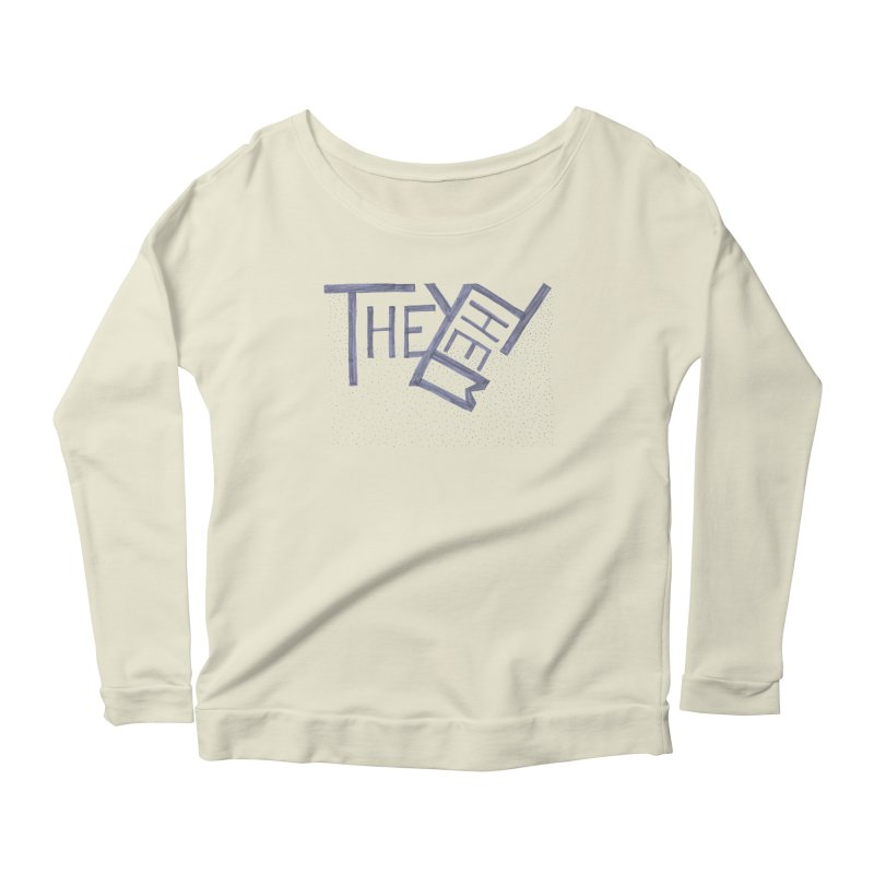 They/Them Women's Scoop Neck Longsleeve T-Shirt by Cruel Valentine