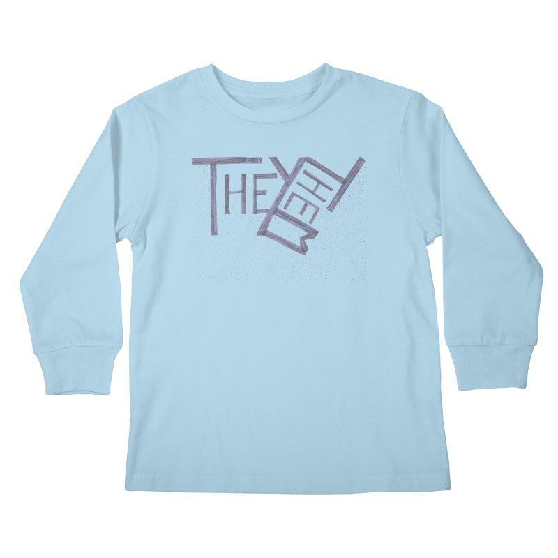 They/Them Kids Longsleeve T-Shirt by Cruel Valentine
