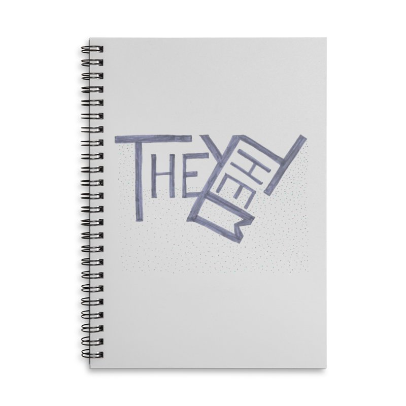 They/Them Accessories Lined Spiral Notebook by Cruel Valentine