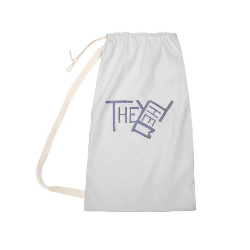 They/Them Accessories Laundry Bag Bag by Cruel Valentine