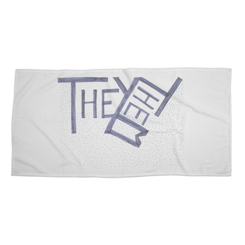 They/Them Accessories Beach Towel by Cruel Valentine
