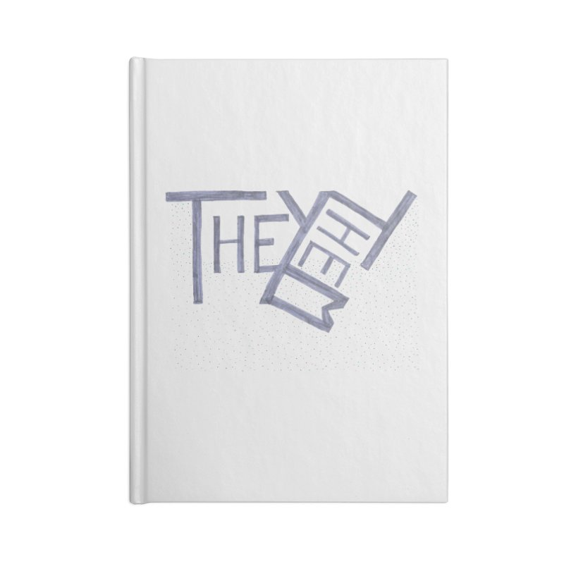 They/Them Accessories Lined Journal Notebook by Cruel Valentine
