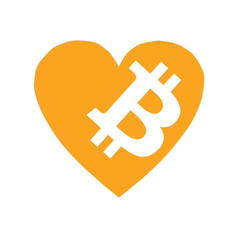 Love Bitcoin by Crypt0 Clothing Shop