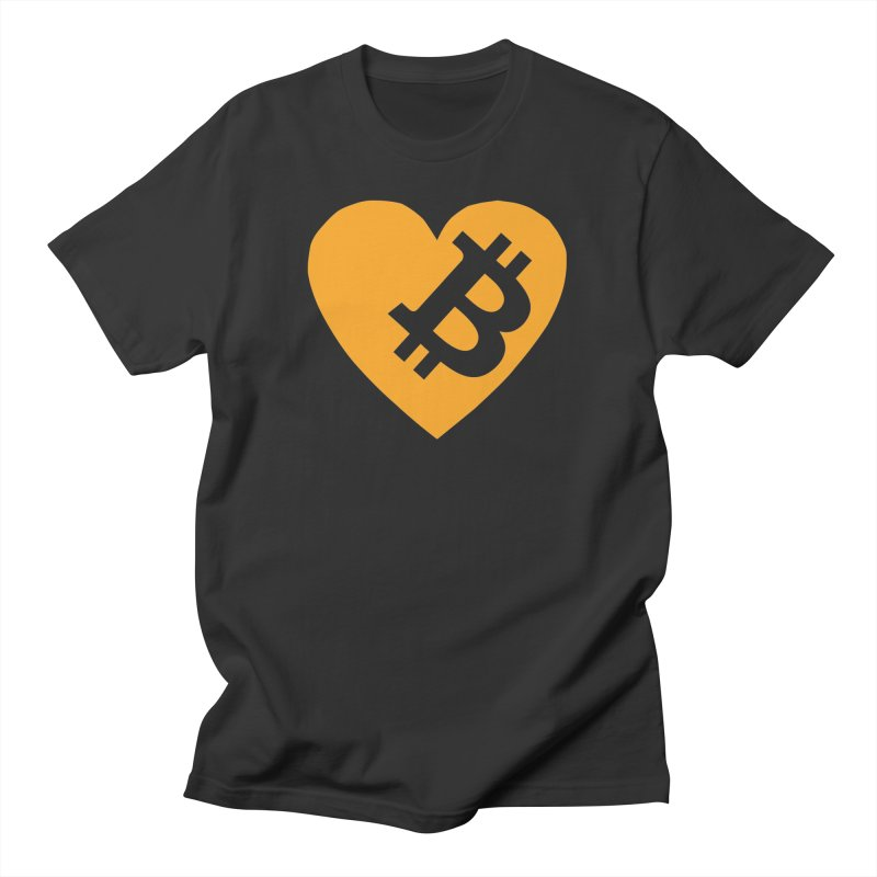 Love Bitcoin Men's T-Shirt by Crypt0 Clothing Shop
