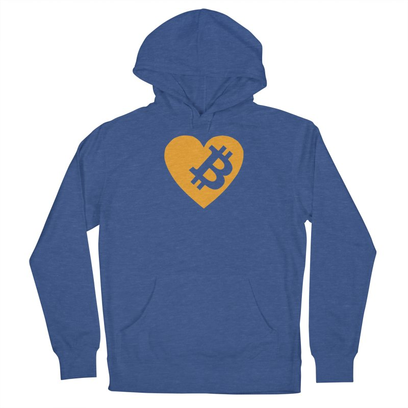Love Bitcoin Men's Pullover Hoody by Crypt0 Clothing Shop