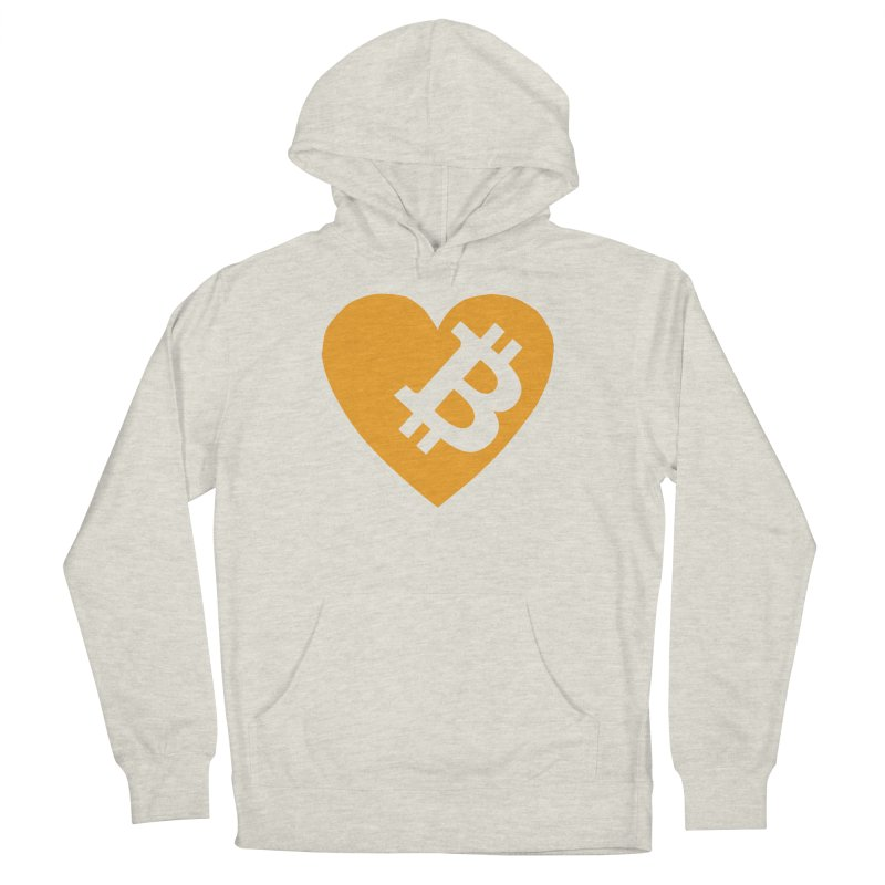 Love Bitcoin Men's French Terry Pullover Hoody by Crypt0 Clothing Shop