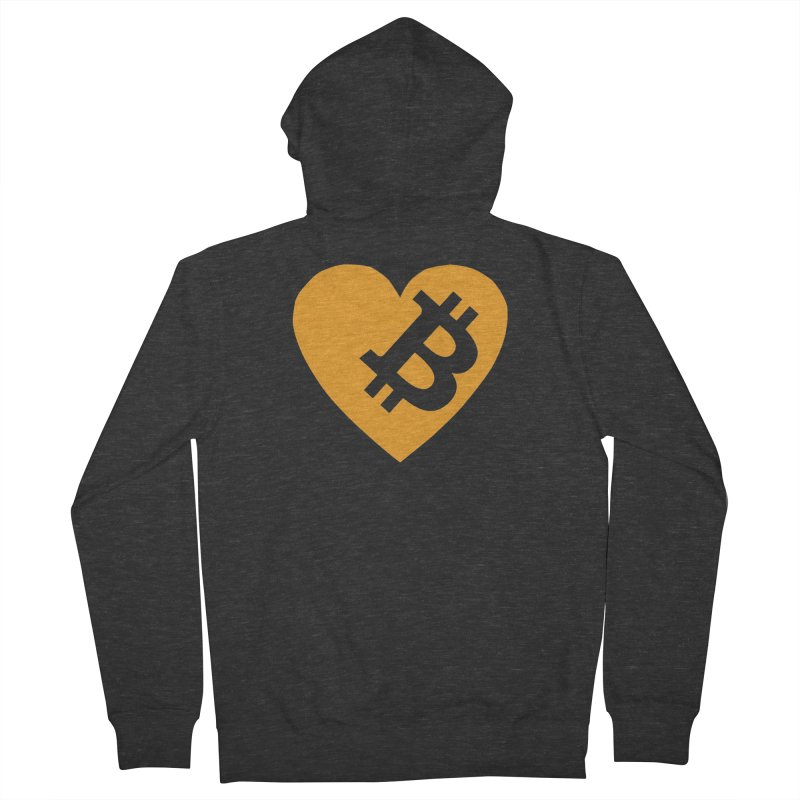 Love Bitcoin Men's French Terry Zip-Up Hoody by Crypt0 Clothing Shop