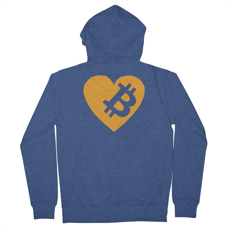Love Bitcoin Men's Zip-Up Hoody by Crypt0 Clothing Shop