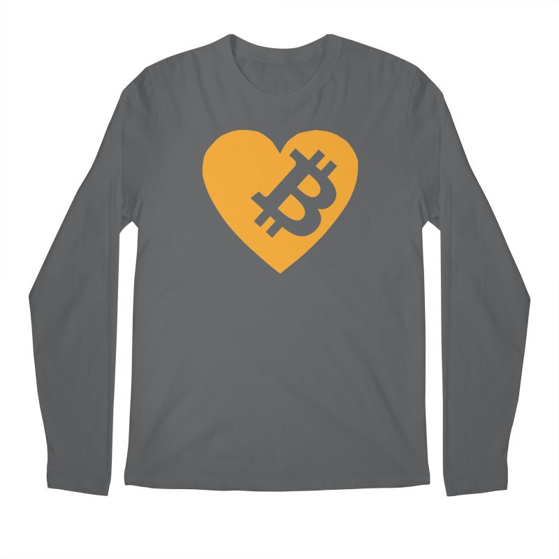 Love Bitcoin Men's Longsleeve T-Shirt by Crypt0 Clothing Shop