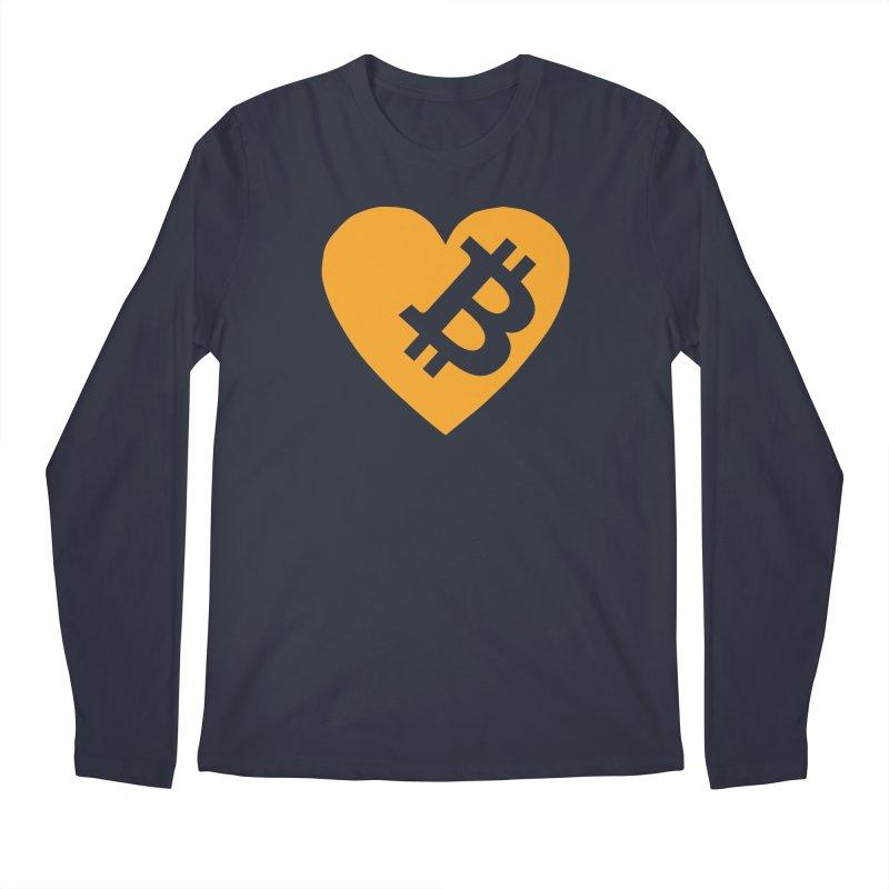 Love Bitcoin Men's Regular Longsleeve T-Shirt by Crypt0 Clothing Shop