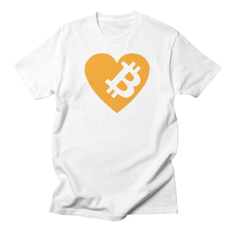 Love Bitcoin Men's Regular T-Shirt by Crypt0 Clothing Shop