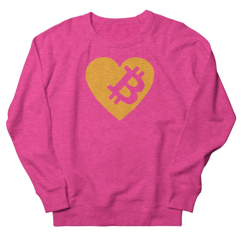 Love Bitcoin Women's French Terry Sweatshirt by Crypt0 Clothing Shop