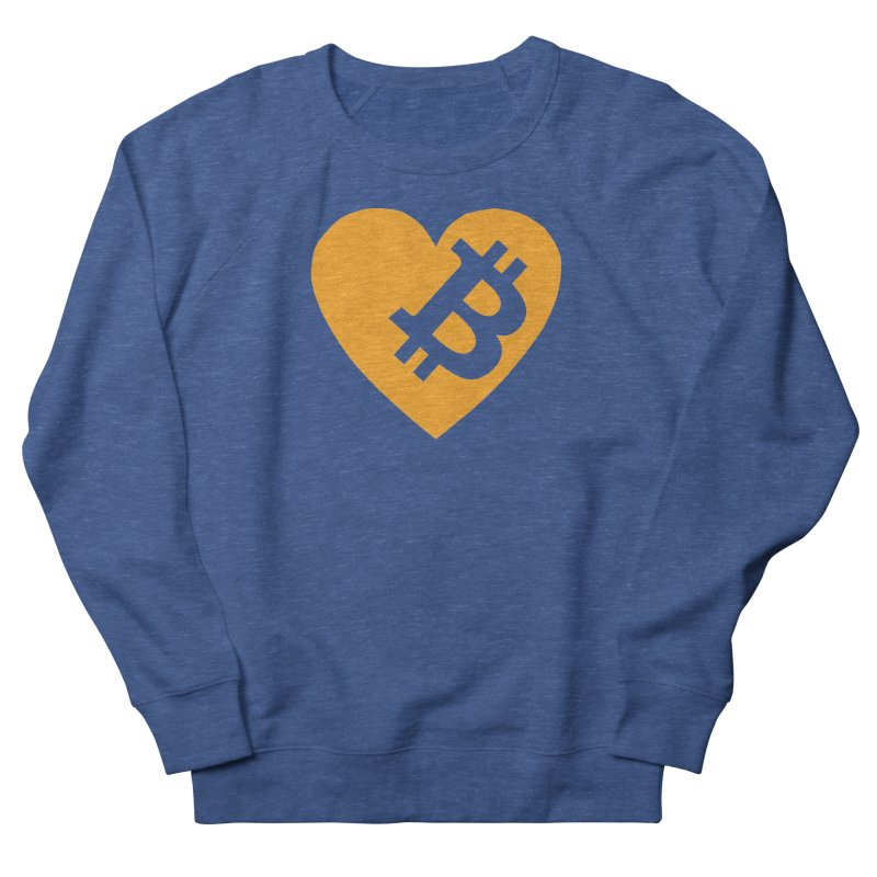 Love Bitcoin Men's Sweatshirt by Crypt0 Clothing Shop