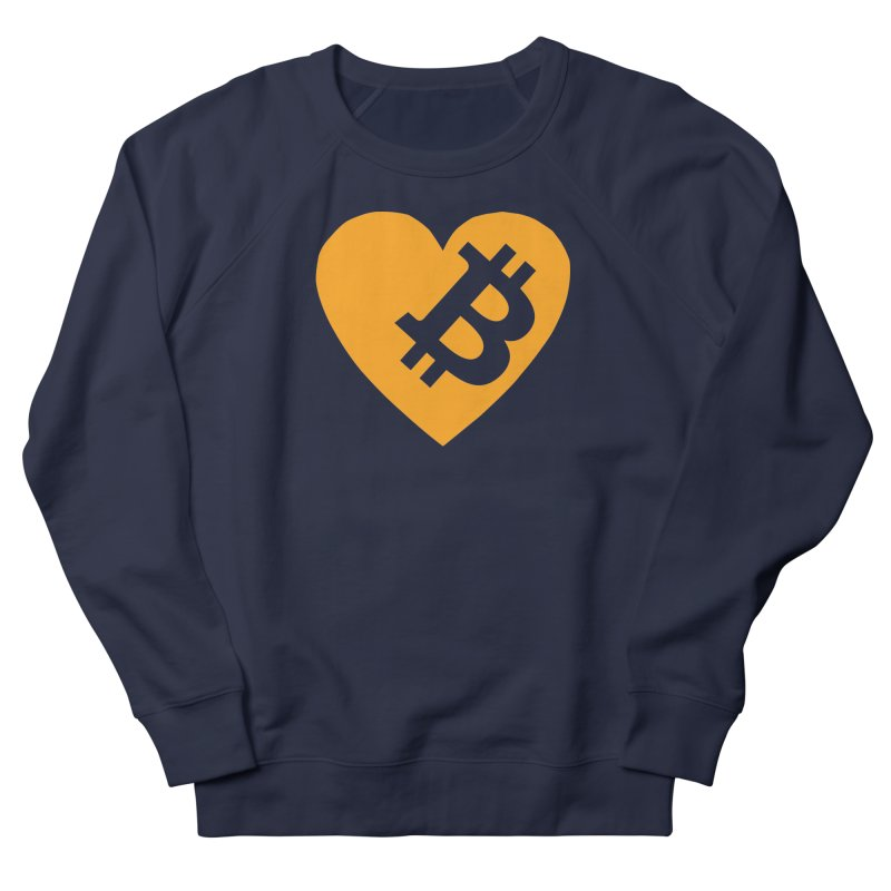 Love Bitcoin Men's French Terry Sweatshirt by Crypt0 Clothing Shop
