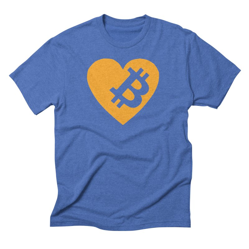 Love Bitcoin Men's Triblend T-Shirt by Crypt0 Clothing Shop